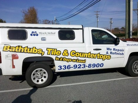 Cut vinyl lettering with a printed graphic too.