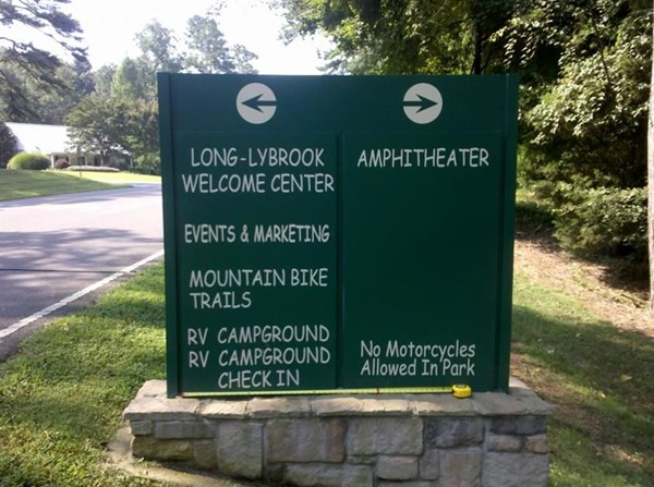 Another Tanglewood sign.  We also did the DogPark sign, and the Manor House Sign too.